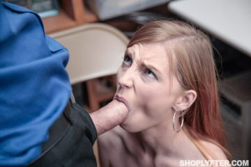 Ava Parker takes a big cock in her mouth
