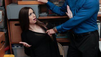 After intense interrogation hot brunette Tali Dova had to admit everything