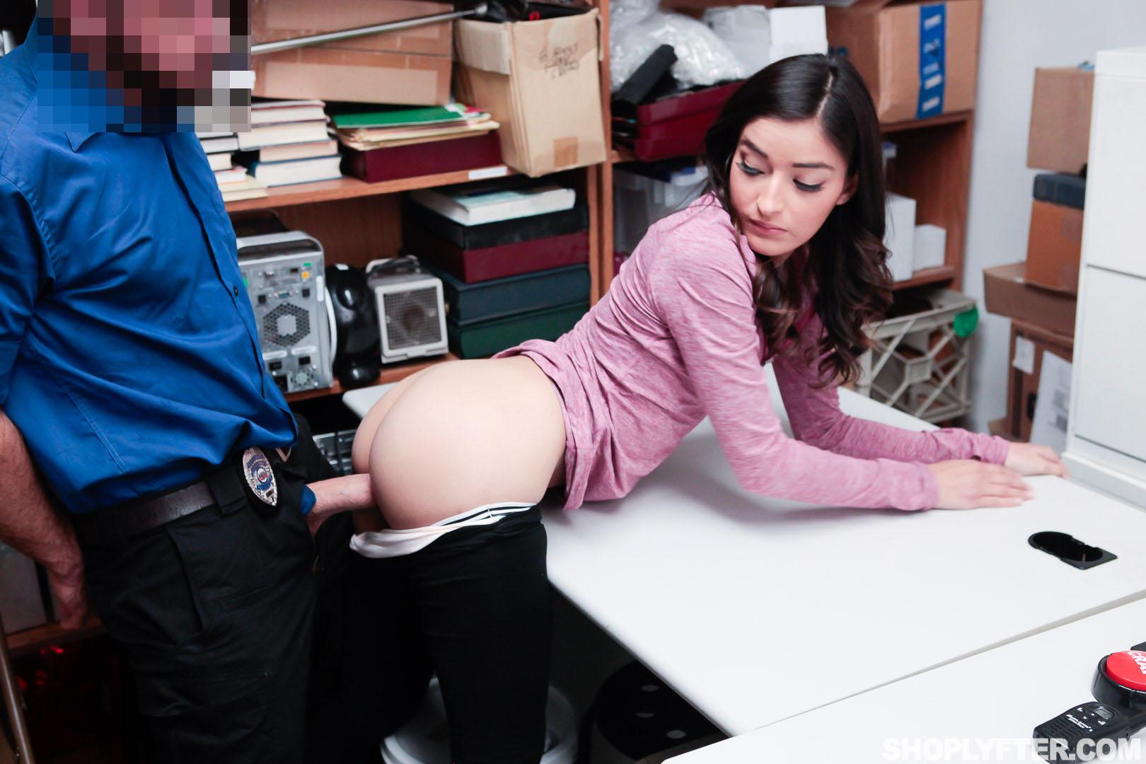 Brunette Fucked Office Cock