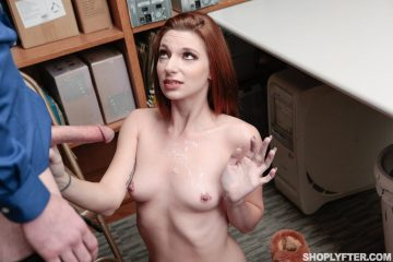 Jaycee Starr got some skeet all over her face and tits