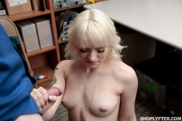 Sexy Naomi Nash gets some jizz all over her tits