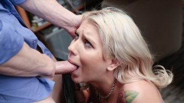 Sexy blonde Chanel Grey looked so innocent, but after all, she's just one more shoplyfter
