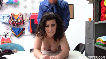Naked brunette Lyra Lockhart fucked hard from behind